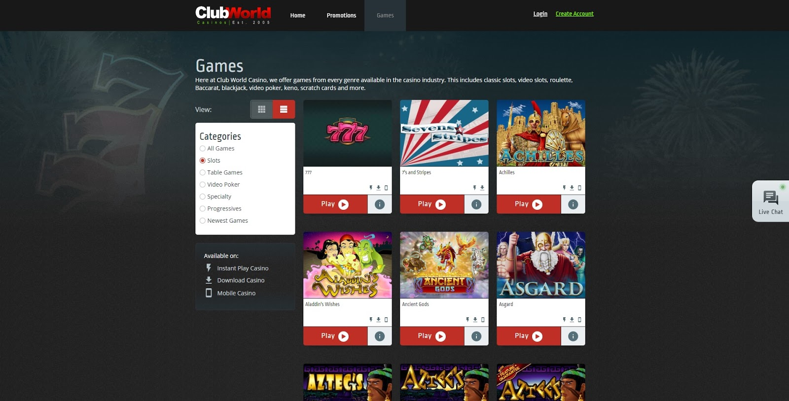 Clubworldcasinos